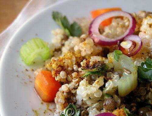 Francesco Tramontano – Quinoa speziata con lenticchie