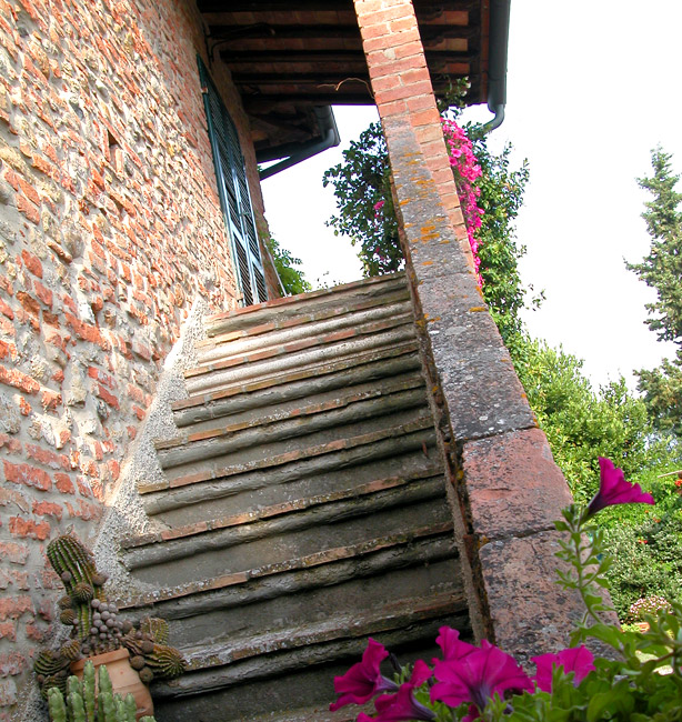 ingresso sulle scale