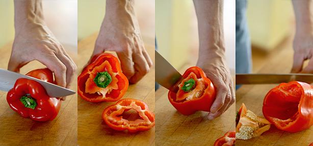come mondare i peperoni