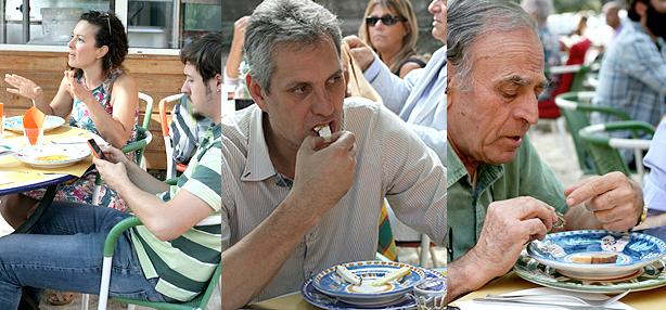 degustazione dei formaggi di Loreto Pacitti