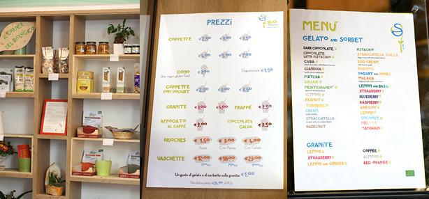 organic ice-cream Rome