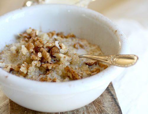 Quinoa con le noci e il miele