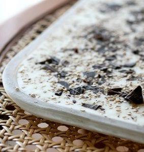 gelato con semi di sesamo